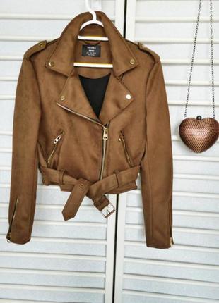 Замшевая косуха кожанка куртка