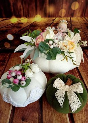 Декоративные тыковки, аксессуар для декора дома.