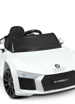 Детский электромобиль bambi racer m 4190eblr-1 audi белый, 2 мотора, колеса eva, mp3, usb (1100226)