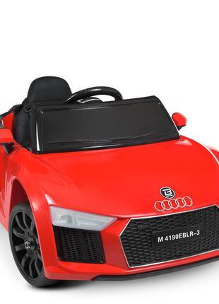 Детский электромобиль bambi racer m 4190eblr-3 audi красный, 2 мотора, колеса eva, mp3, usb(110027)
