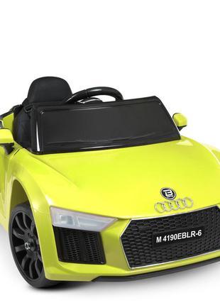 Детский электромобиль bambi racer m 4190eblr-6 audi желтый, 2 мотора, колеса eva, mp3, usb(1100228)