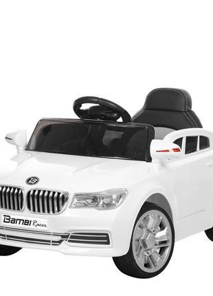 Детский электромобиль bambi racer m 3271eblr-1 bmw белый, 2 мотора, колеса eva, (1100229)