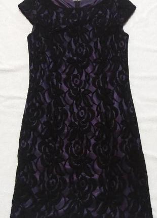 Черное кружевное, нарядное платье