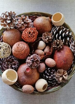 Сухоцвет набор новогодний декор и аксессуары