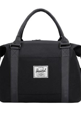 Новая черная сумка, спортивная сумка шопер, дорожная сумка