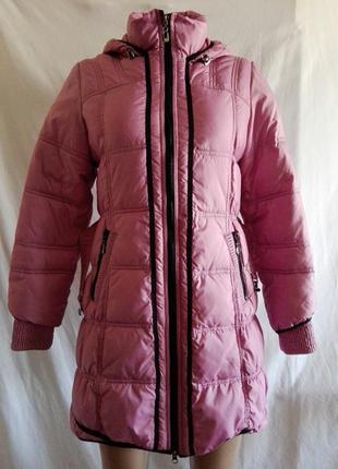 Зимняя куртка пуховик пальто black & red р. xl  №248