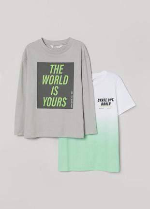 Комплект футболка+лонг h&m