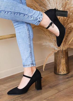 Туфли женские fashion enata черные