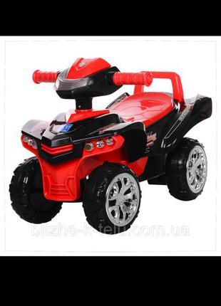 Детская каталка-толокар квадроцикл черно-красный