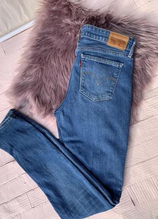 Levi's джинсы skinny голубые 711 синие левис левайс levis 27 скинни скини брюки штани