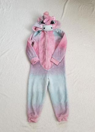 Пижама кигуруми единорог детская