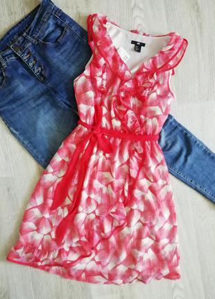 Платье на запах с рюшами, сукня, платья, плаття, сарафан на запах с рюшей