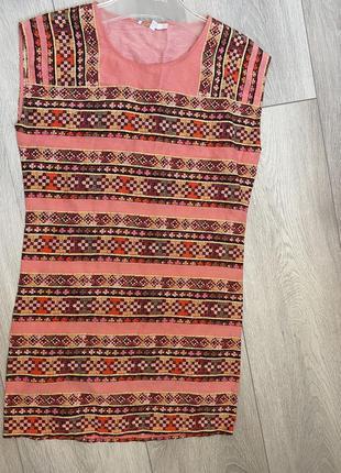 Платье maje из льна и шелка