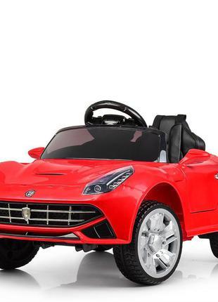 Детский электромобиль bambi racer m 3176eblr-3 порше красный, 2 мотора, колеса eva (1100236)