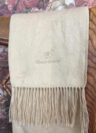 Шерстяной шарф из альпаки. alpaca camargo