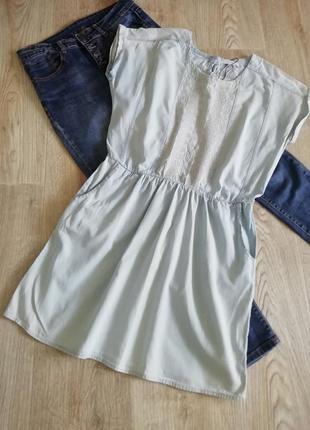 Mango джинсовое платье с вышивкой, джинсовый сарафан с вышивкой, плаття, сукня, платья