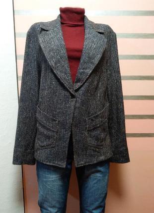 Темный серо-синий оверсайз жакет, пиджак от скандинавского бренда kello