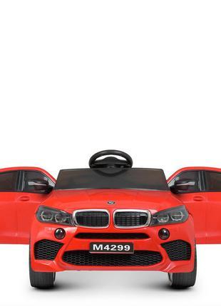 Детский электромобиль bambi racer m 4299eblr-3 bmw красный, 4 мотора, колеса eva, (1100238)