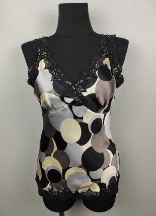 Блуза топ шикарная шелковая красивая oasis uk 10/38/s