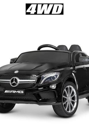 Детский электромобиль bambi racer m 4124eblrs-2 mercedes черный автопокраска, 4 мотора, (1100241)