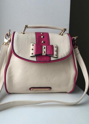 Красивая сумка anna smith new york через плечо кросс-боди