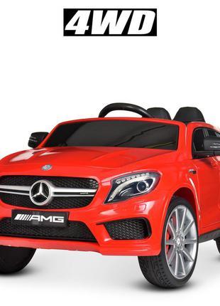 Детский электромобиль bambi racer m 4124eblr-3 mercedes красный, 4 мотора, колеса eva,(1100242)