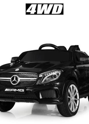 Детский электромобиль bambi racer m 4124eblr-2 mercedes черный, 4 мотора, колеса eva, (1100243)