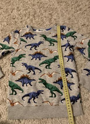 Реглан с динозаврами