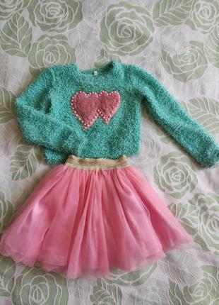 Класний костюмчик на дівчинку, 3-5 років