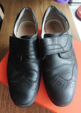 Туфли на мальчика 34р кожаные
