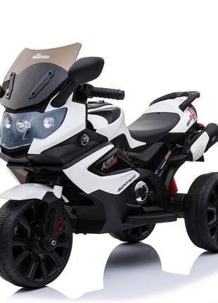 Детский мотоцикл bambi m 3986el-1 белый гарантия качества быстрая доставка (1100247)