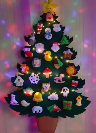 Новогодние елки из фетра. мягкие детские безопасные елки. искуственная елка. новогодние сувениры.