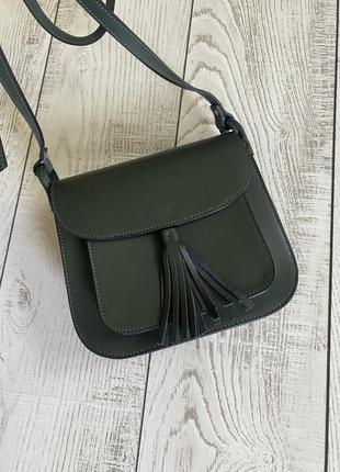 Стильная кожаная сумка италия