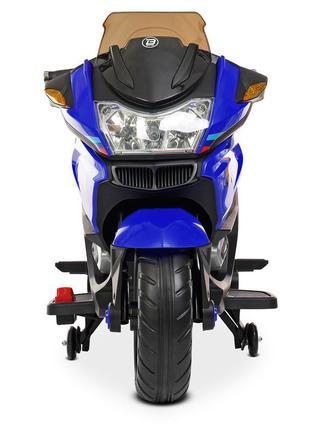 Детский электромотоцикл трехколесный bambi racer m 4272el-4 синий, 2 мотора, mp3, usb (1100248)