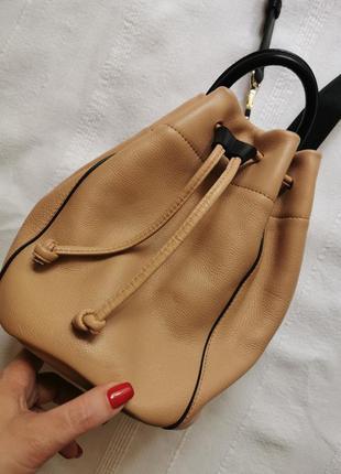 Dkny люкс бренд кожаный рюкзак/ сумка натуральная кожа furla coach radley