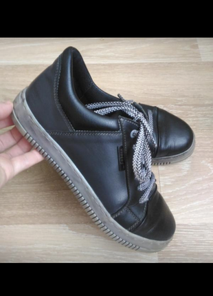 Спортивные туфли кожаные кеды