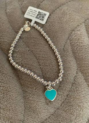 Браслет tiffany сердце серебро 925 проба silver