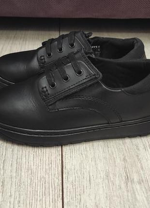 Туфли школьные m&s рр 30-31 кожа