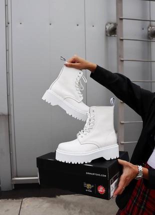 Ботинки dr. martens jadon white без меха 🍂
