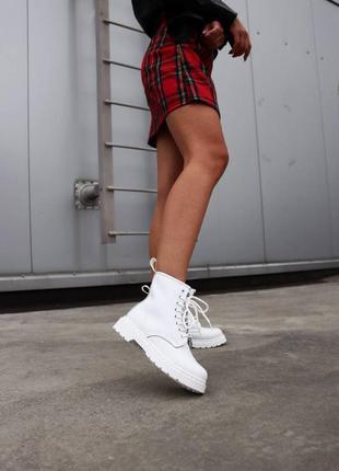 Ботинки dr. martens 1460 white без меха 🍂