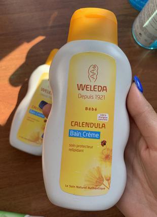 Дитячий крем для купання з екстрактом календули weleda