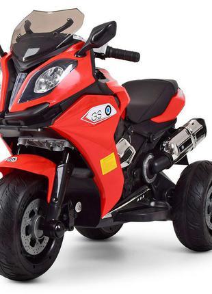 Детский электромотоцикл трехколесный bambi racer m 3913el-3 красный, 2 мотора, mp3, usb,(1100251)