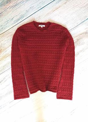 Бордовый джемпер кофта с добавлением ангоры и шерсти sweewe