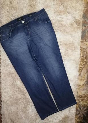 Фирменные джинсы стрейч штаны брюки батал на пышные формы большой размер
