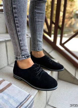Женские классические туфли на низком каблуке🖤
