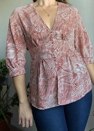 Блуза оверсайз рубашка с коротким рукавом и поясом