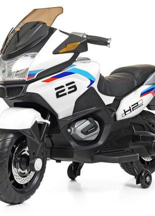 Детский электромотоцикл трехколесный bambi racer m 4272el-1 белый, 2 мотора, mp3, usb (1100256)