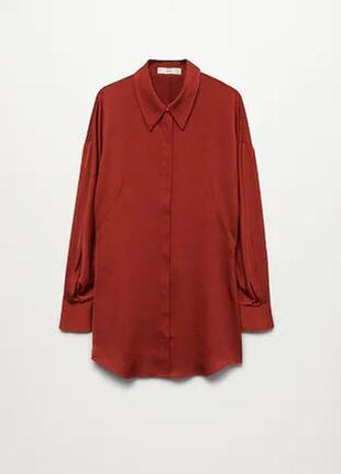 Струящаяся рубашка с атласным блеском mango