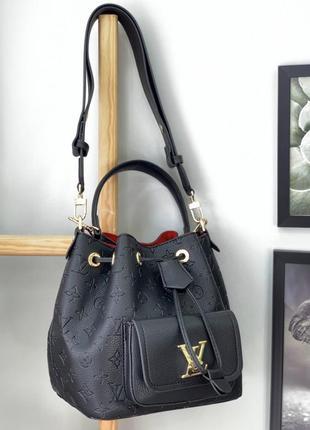 Стильная, качественная сумка в стиле louis vuitton чёрного цвета