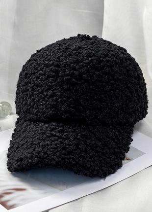 13-291 бейсболка кепка плюшевая под шерсть ягненка